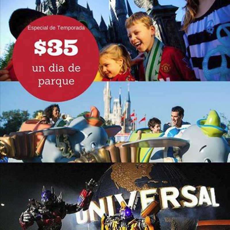 TICKETS PARQUES EN OFERTA